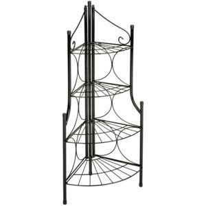 Tectake 402090 corner plant stand with 4 levels - black