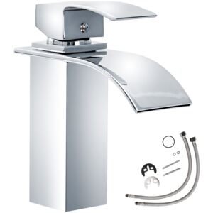 Tectake 402131 faucet curved waterfall tap - grey