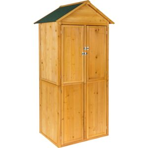 Tectake 402210 garden storage shed with a pitched roof - brown