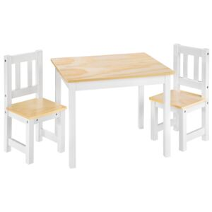 Tectake 402376 kids table and chairs set alice - white