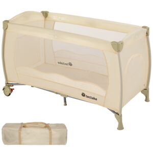 Tectake 402418 travel cot for children - beige