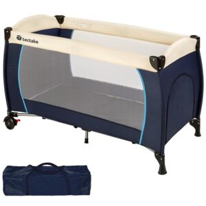 Tectake 402416 travel cot for children - blue