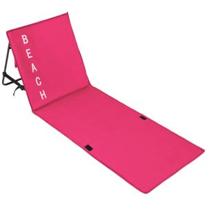 Tectake 402443 beach mat with backrest - pink