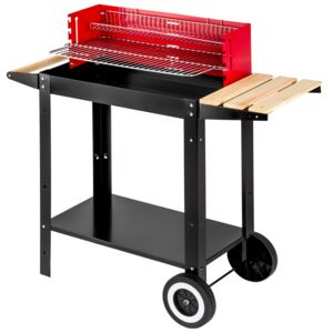 Tectake 402329 bbq grill - black/red
