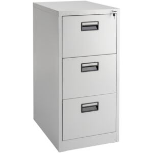 Tectake 402487 filing cabinet with 3 shelves - grey