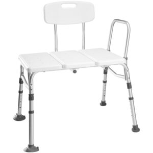 Tectake 402512 bath seat with back- and armrest, adjustable height - white