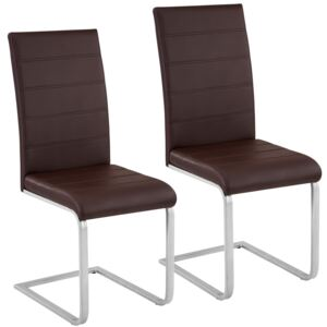 Tectake 402552 2 dining chairs rocking chairs - brown