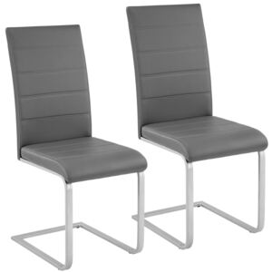Tectake 402551 2 dining chairs rocking chairs - grey