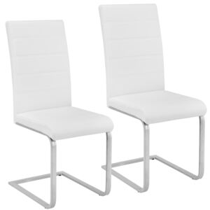 Tectake 402550 2 dining chairs rocking chairs - white