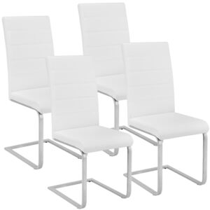 Tectake 402554 4 dining chairs rocking chairs - white