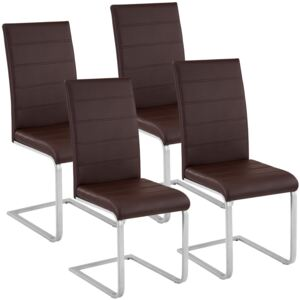 Tectake 402556 4 dining chairs rocking chairs - brown