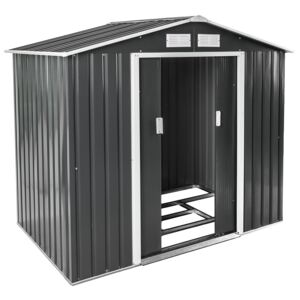 Tectake 402568 shed with saddle roof - grey