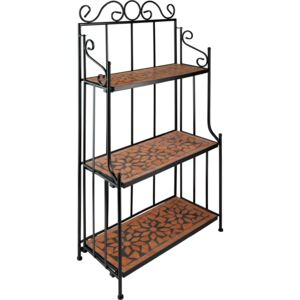 Tectake 402770 plant stand mosaic 3 levels - terracotta