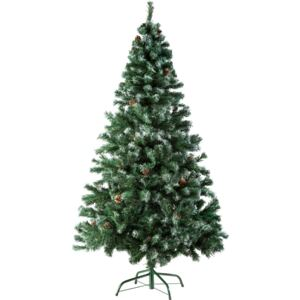 Tectake 402822 christmas tree artificial - 180 cm, 705 tips and pine cones, green
