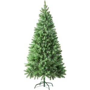 Tectake 402823 christmas tree artificial - 180 cm, 742 tips and injection moulded pine cones, green