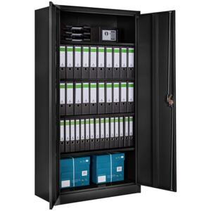 Tectake 402938 filing cabinet with 5 shelves - black