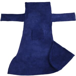 Tectake 403045 2 blankets with sleeves - blue, 200 x 170 cm