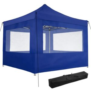 Tectake 403155 gazebo collapsible 3x3 m with 4 sides - olivia - blue