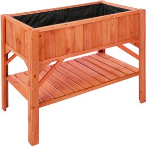 Tectake 403232 raised bed with storage - brown