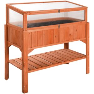 Tectake 403251 raised bed with cold frame attachment - brown