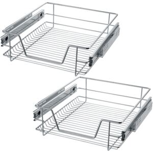 Tectake 403440 2 sliding wire baskets with drawer slides - 47 cm