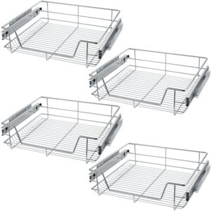 Tectake 403443 4 sliding wire baskets with drawer slides - 57 cm