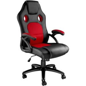 Tectake 403465 tyson office chair - black/red