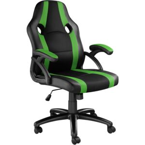 Tectake 403478 office chair benny - black/green