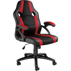 Tectake 403479 office chair benny - black/red