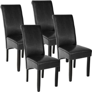 Tectake 403494 4 dining chairs with ergonomic seat shape - black