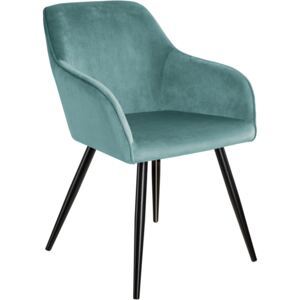 Tectake 403664 chair marilyn with armrests - turquoise/black