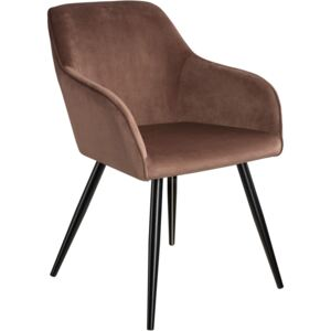Tectake 403661 chair marilyn with armrests - brown/black