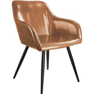 Tectake 403676 marilyn faux leather chair - brown/black