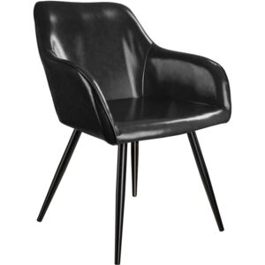 Tectake 403677 marilyn faux leather chair - black