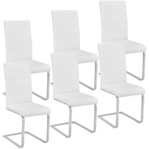 Tectake 403896 6 dining chairs rocking chairs - white