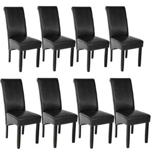 Tectake 403988 8 dining chairs with ergonomic seat shape - black