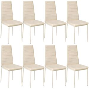 Tectake 404122 8 dining chairs synthetic leather - beige