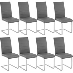 Tectake 404129 8 dining chairs rocking chairs - grey