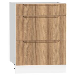 FURNITOP Lower Kitchen Cabinet ZOYA D60 S/3 natural wood