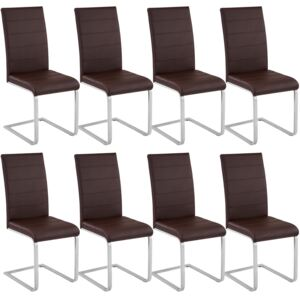 Tectake 404130 8 dining chairs rocking chairs - brown
