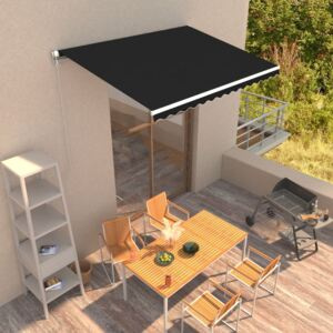 VidaXL Manual Retractable Awning 350x250 cm Anthracite