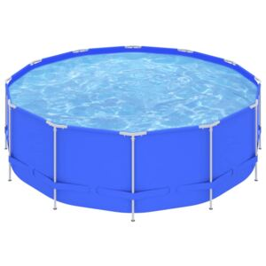 Swimming Pool with Steel Frame 457x122 cm Blue
