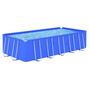 Swimming Pool with Steel Frame 540x270x122 cm Blue