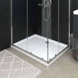 VidaXL Shower Base Tray with Dots White 80x100x4 cm ABS