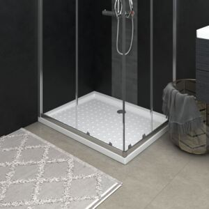 VidaXL Shower Base Tray with Dots White 90x70x4 cm ABS