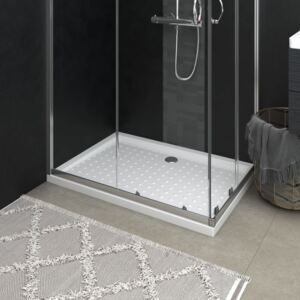 VidaXL Shower Base Tray with Dots White 70x100x4 cm ABS
