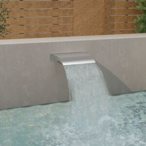 Pool Fountain Silver 45x9x26 cm Stainless Steel