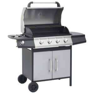 VidaXL Gas Barbecue Grill 4+1 Cooking Zone Steel & Stainless Steel