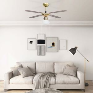 Ceiling Fan with Light 106 cm Brown