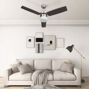 Ceiling Fan with Light and Remote Control 108 cm Dark Brown